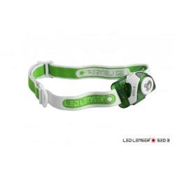 LINTERNA FRONTAL LED LENSER SEO 3