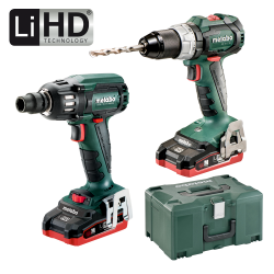 PACK METABO BRUSHLESS LIHD: SB 18 LTBL + SSW 18 LTX 400 BL