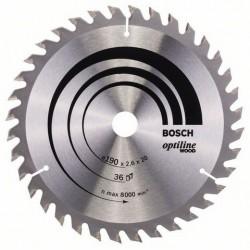 DISCO BOSCH STANDAR MADERA 190X20 36D