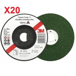 DISCO DESBASTE 3M GREEN CORPS CUBITRON (20UN)