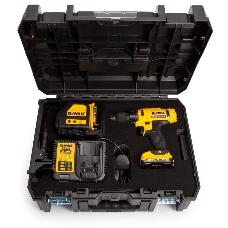 Laser Drill 101142 nivel 3 en 1 gu/ía taladro aspirador y nivel