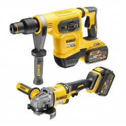 PACK DEWALT FLEXVOLT: MARTILLO SDS MAX + AMOLADORA