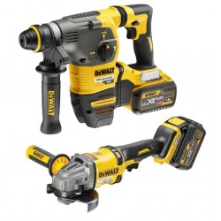 PACK DEWALT FLEXVOLT: MARTILLO SDS PLUS + AMOLADORA