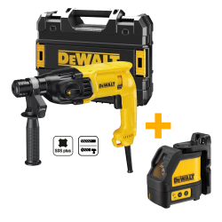PACK DEWALT MARTILLO SDS PLUS + NIVELADOR LÁSER