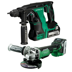 KIT HITACHI BRUSHLESS 18V 5Ah : MARTILLO + AMOLADORA