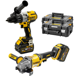 KIT DEWALT FLEXVOLT AMOLADORA + PERCUTOR