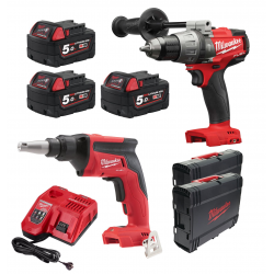 PACK MILWAUKEE 18V: TALADRO M18 FPD + ATORNILLADOR M18 FSG