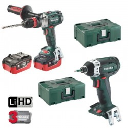 PACK METABO 5.5AH: TALADRO PERCUTOR + MARTILLO