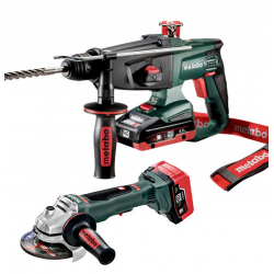 PACK METABO 18V LIHD: MARTILLO + AMOLADORA
