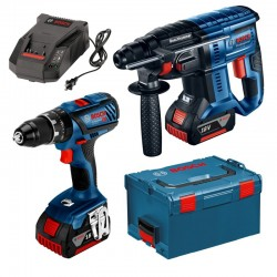 KIT BOSCH MARTILLO + TALADRO 18V (4,0AH)